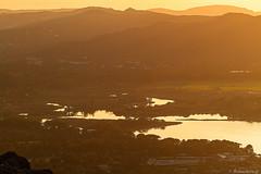 L'embouchure du Stabiacciu au soleil couchant
