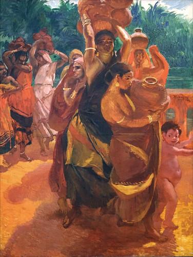 """""""Sur le pont de Trichinopoly"""" d'Albert Besnard (Musée du Patit Palais, Paris)"""