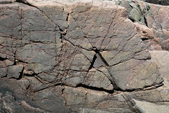 Joints in granite (Cadillac Mountain Granite, Late Devonian, ~365 Ma; Thunder Hole, Mt. Desert Island, Maine, USA) 1