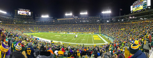 Green and Gold at Lambeau Field