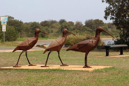 Shorebirds sculpture, Shoalhaven Heads
