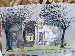 Reprise du croquis après plusieurs mois d'arrêt au cimetière de La Miséricorde de Nantes. #cimetière #nantes #usk #croquis