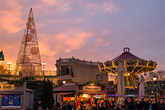Christmas market at Prater in Vienna