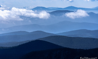 Mountain layers: blue ridges