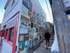 Entering the art alley