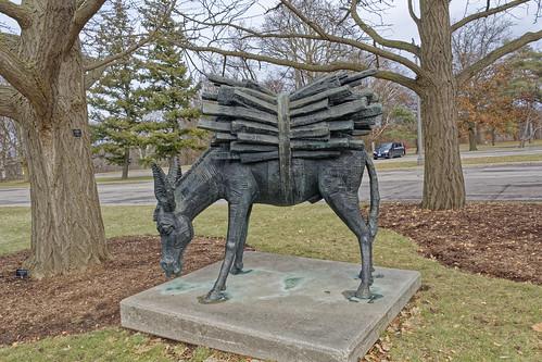 The Donkey Art depicting work ethic - Royal Botanical Garden's Parking Lot - Hamilton, Ontario