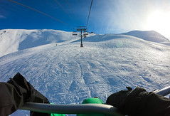 Skiing in Vars, France