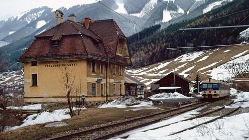Austrian branch line memories - 5. Vordenberg. 14/2/92.