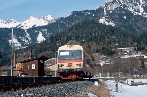 Austrian branch line memories - 4. Neuberg Ort. 13/2/92.