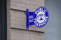 Public Telephone sign, Roanoke, Virginia
