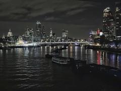 Downriver from Waterloo Bridge