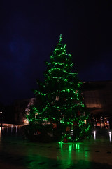 A Christmas tree in the center of Montargis