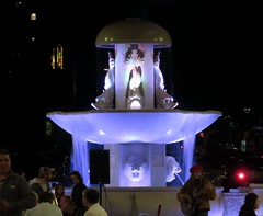 Little Italy fountain by Night