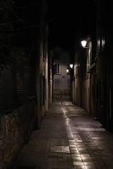 Montargis alley at night - Photo of Girolles