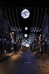 Pedestrian street during Christmas - Photo of Girolles