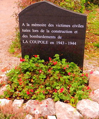 Memorial to the civilian dead at La Coupole, Helfaut-Wizernes, Pas-de-Calais, France. - Photo of Ouve-Wirquin