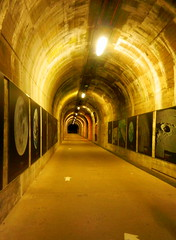 The rail access tunnel, La Coupole, Helfaut-Wizernes, Pas-de-Calais, France.