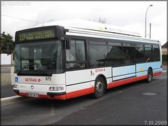 Irisbus Agora S GNV – Setram (Société d'Économie Mixte des TRansports en commun de l'Agglomération Mancelle) n°672