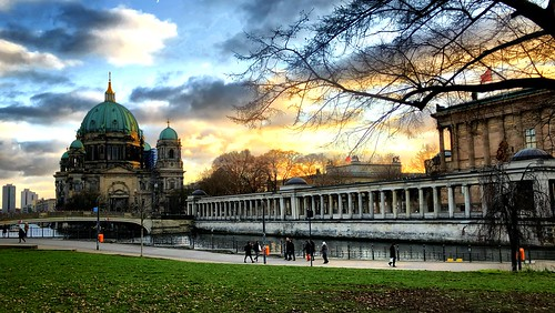 The Berlin Cathedral at the winter