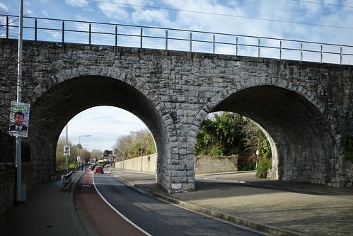 Two of the nine arches