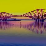 Reflections of the Forth Bridge by John Reddington