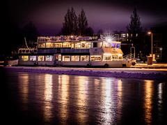 Boat in the Kuopio harbour January 3