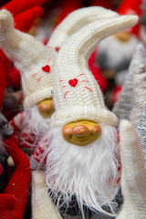 Cute Christmas gnomes with long white beards