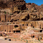 Rock Cut Tombs Petra Jordan by Dave Minty