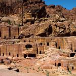 Rock Cut Tombs Petra Jordan by Dave Minty