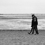 01 winter walking on the beach Tony Hollick by Anthony Hollick