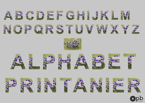 Alphabet printanier
