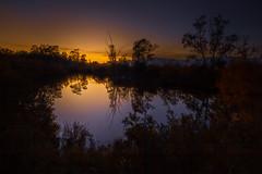 un coin de la rivière, au soleil couchant-02