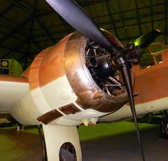 Bristol Blenheim Mk.IV (L8756) engine detail,, RAF Museum, Hendon.
