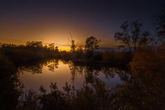 un coin de la rivière, au soleil couchant-01