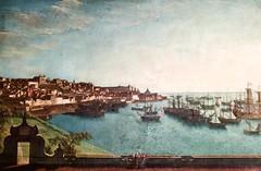 Lisbon seen from Marquês de Abrantes Palace (18th century, 1st half) - Unknown author