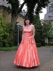 Satin ballgown