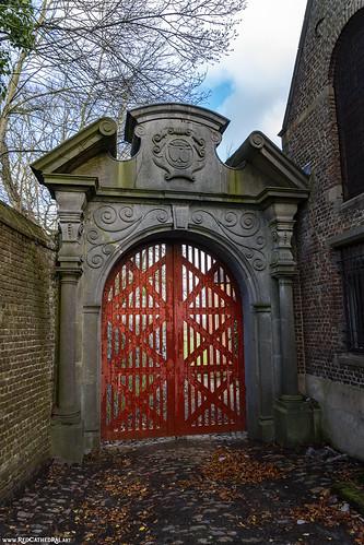 The Red Gate of Chateau de Merode à Rixensart
