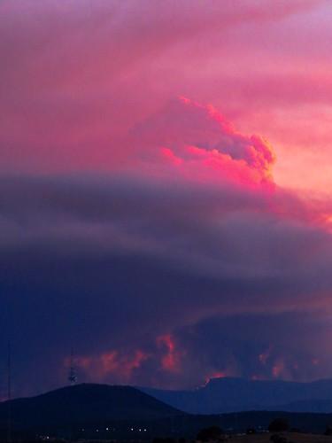 Bushfire smoke over Canberra