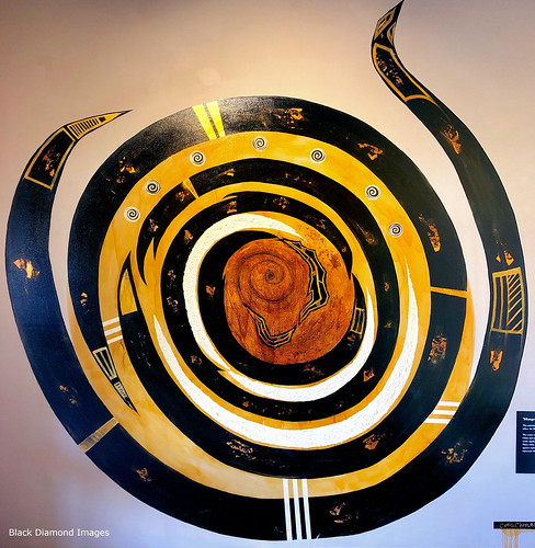 Aboriginal Art, Mungo National Park Visitors Centre, South Western NSW
