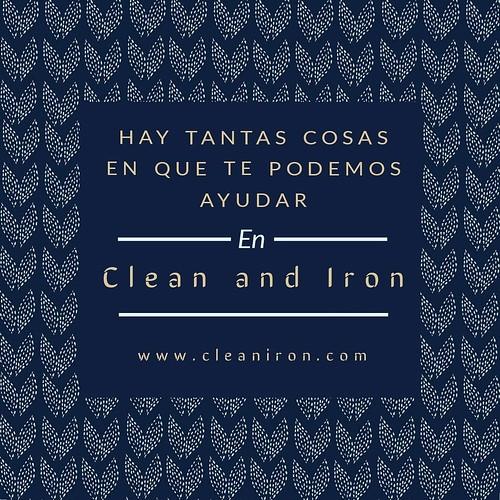 Hay tantas cosas en las que te podemos ayudar. Clean & Iron Service desde 1987, organizando tu hogar.  #limpieza #cleaniron #organizamostuhogar #limpiezporhoras #cleaningservice #cleanyourhouse #housecleaning #ropa #cortinas #alfombras #cristales