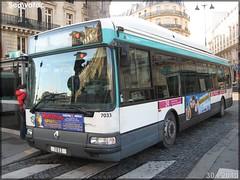 Renault Agora S GNV – RATP (Régie Autonome des Transports Parisiens) / STIF (Syndicat des Transports d'Île-de-France) n°7033