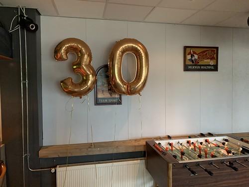 Folieballon Cijfer 30 Vollido Hendrik Ido Ambacht