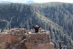 Marlena posing on Massai Point overlook