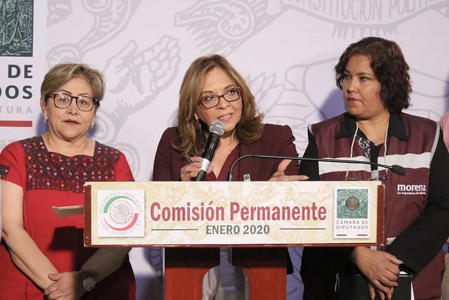 28/01/2020 Conferencia de Prensa Dip. María de los ángeles Huerta del Río
