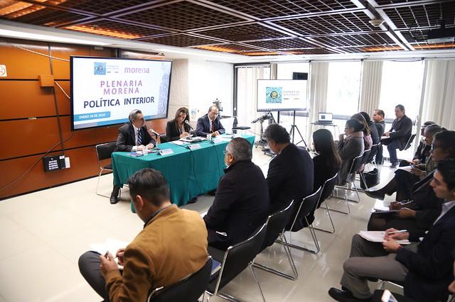 30/01/2020 Plenaria GP Morena. Mesa Política Interior