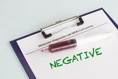 Negative Coronavirus blood test