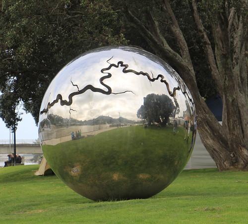 McCracken river ball sculpture