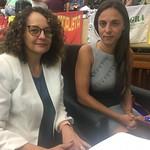 Deputadas Luciana Genro e Fernanda Melchionna na luta contra o pacote do governo Leite