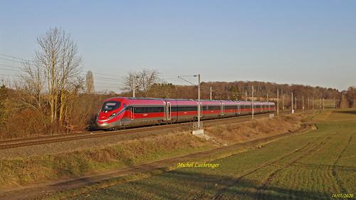 ETR 1000 Rame 25 Marche Essai Montbéliard-Mulhouse à Ballersdorf