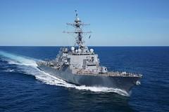 USS Fitzgerald (DDG 62) conducts sea trials off the Mississippi Gulf Coast.